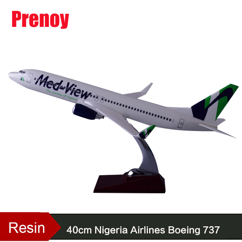 40cm Resin Aircraft Model Boeing 737 Nigeria Airways Airplane Model B737 Med-View Airbus Plane Model Stand Craft Nigeria Airline geminijets gjdlh1326 b737 300 d abee 1 400 lufthansa commercial jetliners plane model hobby