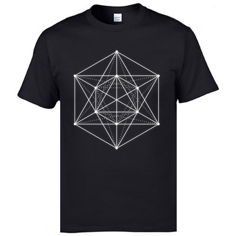 Feature Tshirt Sacred Geometry Shape Student T Shirts 2019 New Arrival Men's Pure Cotton Breathable T-Shirts Man Fashion