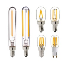 Купить с кэшбэком T20 Refrigerator LED Filament Bulb,1W 2W,G9 E12 E14 Standard Base,Super Warm 2200K,Warm White 2700K,110V 220VAC,Dimmable
