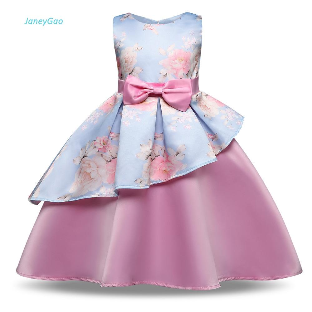 JaneyGao   Flower     Girl     Dress   For Wedding Party Birthday Prom Pageant   Dress   Little   Girl   Formal   Dress   Print   Flower   Cute And Elegant