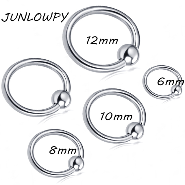 Junlowpy 20g16g Captive Bead Ring Earrings Lip Nose Cartilage