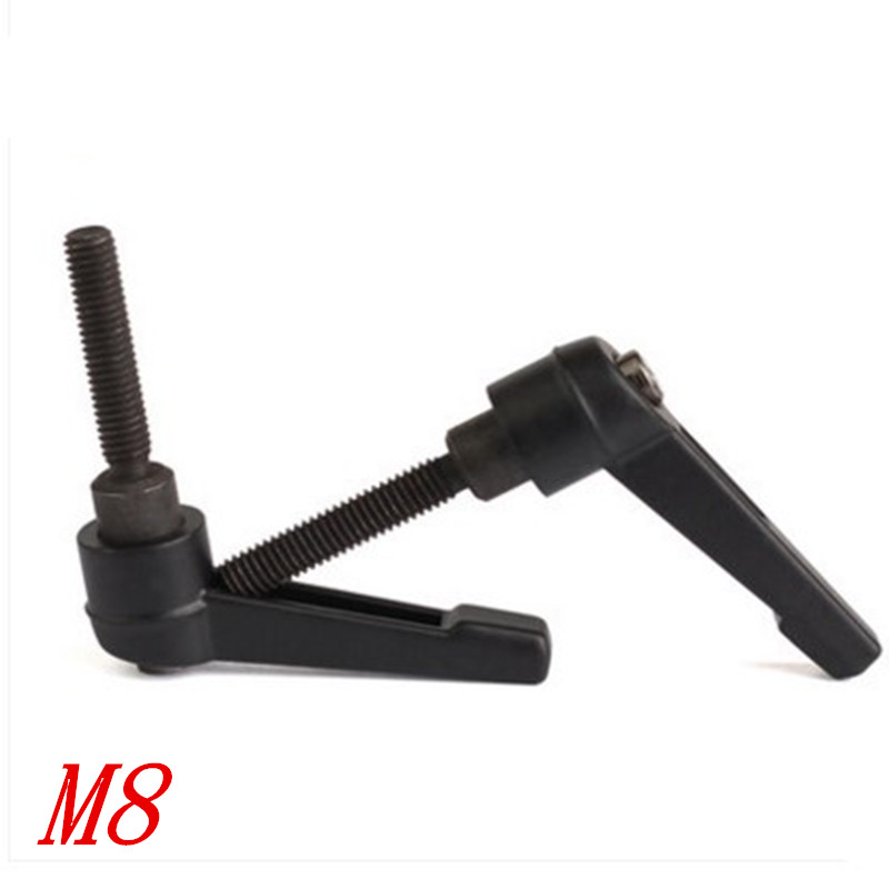 US $1 87 12% OFF|1pc/lot M8 Thread Adjustable Handle Lever  M8x16/20/25/32/40/50mm Clamping Handles 8mm Thread Metal Knob Machinery  Tools-in Cabinet