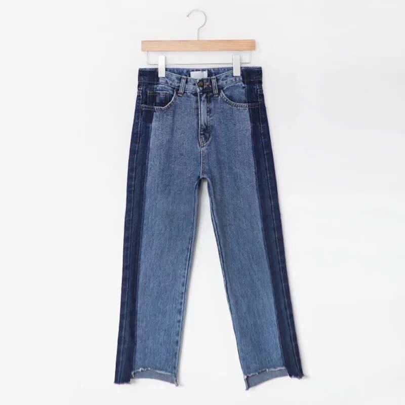 plus size denim women pants jeans ripped high waist blue long irregular boyfriend 5xl bf woman womens winter casual trouser 3