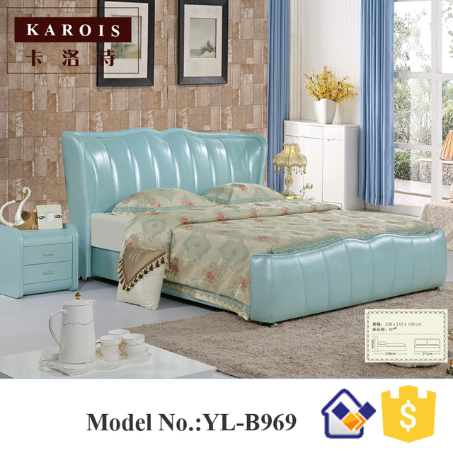 Luxury Leather Bedroom Set Model