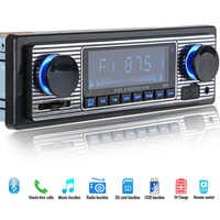 Aux Vintage MP3 Player Stereo Radio USB LCD Display Auto Bluetooth FM Klassische Audio Musik