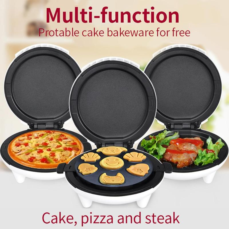 Home 1000w mini Electric Cake Breakfast Maker Machine Household Toaster Waffle Maker(EU) DIY Automatic Bread Machine