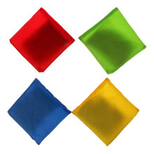 4pcs Mixed Color Set Double Layer Canvas Cornhole Bag Bean Bag for Backyard Tossing Corn Hole Family Game(China)