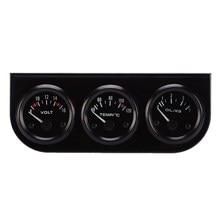 52mm Triple gauge 3 in 1 VoltMeter + Water Temp Gauge + Oil press Gauge Car Motor Oil Pressure Gauges ME3L