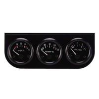 52mm Triple gauge 3 in 1 + Voltmetro Temp Acqua Gauge Misuratori di Pressione Olio + Olio press Calibro Auto Motore ME3L
