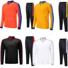 Для мужчин Футбольная форма для мужчин футбол спортивная куртка спортивные костюмы для взрослых Униформа на заказ наборы зимних видов спорта 6809