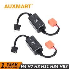 Auxmart Canbus Error Free Warning Canceller Fit Car Headlight Fog Light Kit H4 H7 HB3 9005 HB4 9006 H11 H8 H9 H13 HB2 9003 Plug