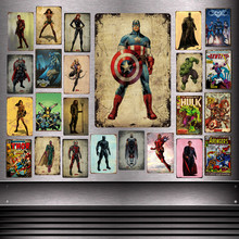 Vingadores Marvel Superhero Guerra Sinais De Metal Infinito O Flash Pantera Negra Widow Hawkeye Thor Chapa Da Parede De Ferro Poster Decor YD06(China)