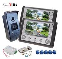 SmartYIBA видеодомофон RFID карта + дверной замок видеодомофон с замком спикерфон домофон система видео дверной звонок