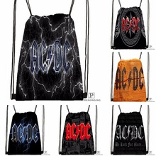 Custom  AC DC#1 Excellent Quality  Drawstring Backpack Bag Cute Daypack Kids Satchel (Black Back) 31x40cm#180531-02-13