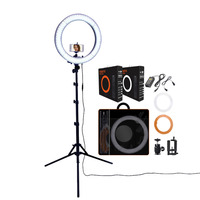 fusitu RL 18 Dimmable Photography Lighting 5500K LED Ring Light With Tripod Stand Big Bag Ring Lamp For Camera Phone Photo Video