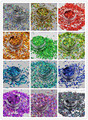 12 holographic colors  Heart  shape  Glitter sequins for  Nail and  Art DIY decora Size :3MM 1Pack=10g*12=120g