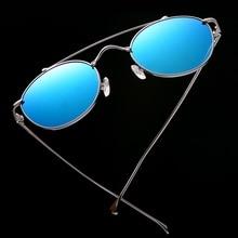 Retro Round Sunglasses for Women Men 2018 New Female  Male Sun Glasses Vintage Round Metal Frame Polarized Mirror Coating