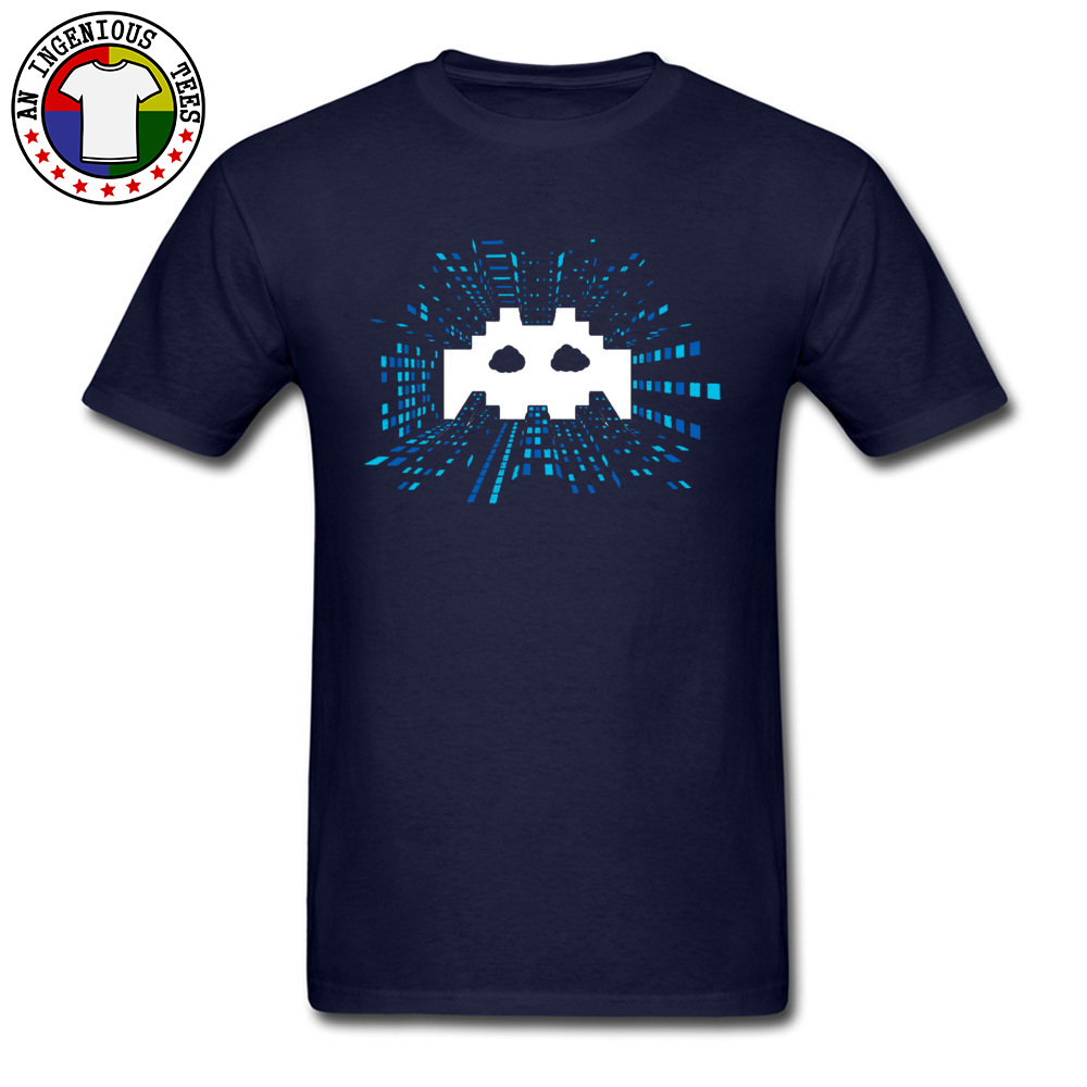 Techno-Android-Music April FOOL DAY 100% Cotton Round Neck Tops Shirts Short Sleeve Comics Tee Shirts High Quality Crazy Tshirts Techno-Android-Music navy