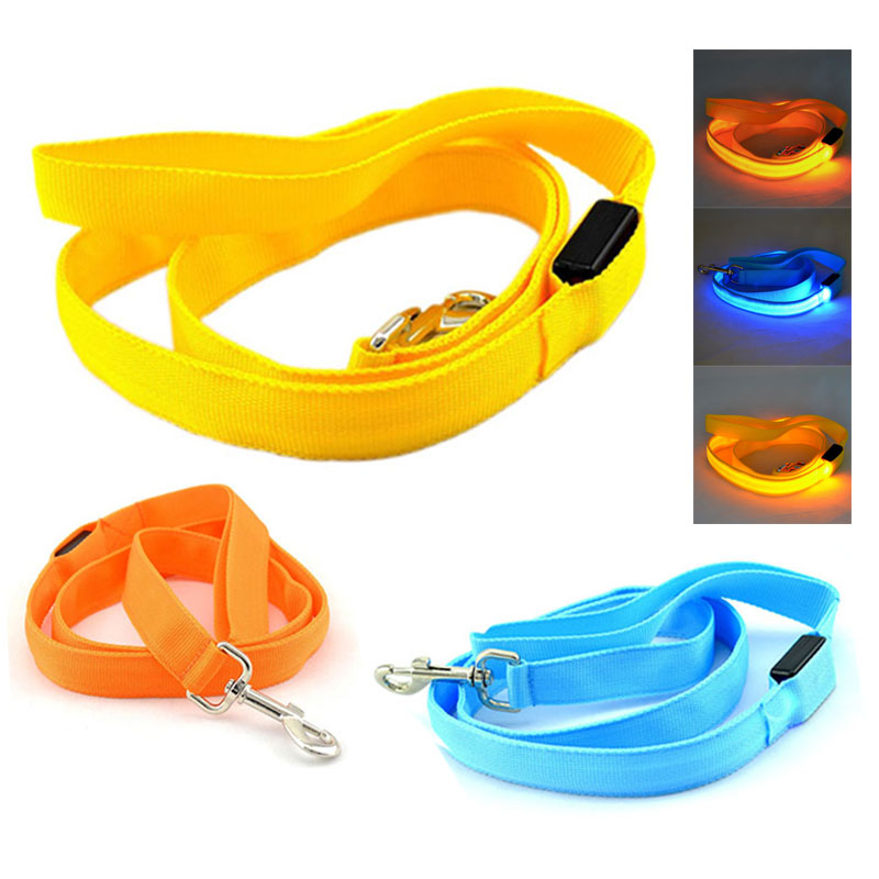 New Arrival Colorful Walking Dog Pet Products LED Hauling Cable Tow Pulling Rope Haulage Cable Pets Leash LED Traction DA