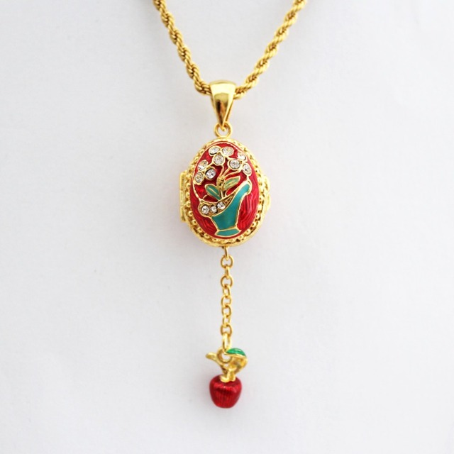 Enamel handmade jewelry can open flower basket little apple brass enamel handmade jewelry can open flower basket little apple brass faberge egg pendant charm crystal necklace aloadofball Choice Image
