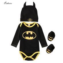 e62dfa9a523e9 Pudcoco 2017 baby Boys clothes Set Cool Batman Newborn Infant Baby Boys  Romper+Shoes+