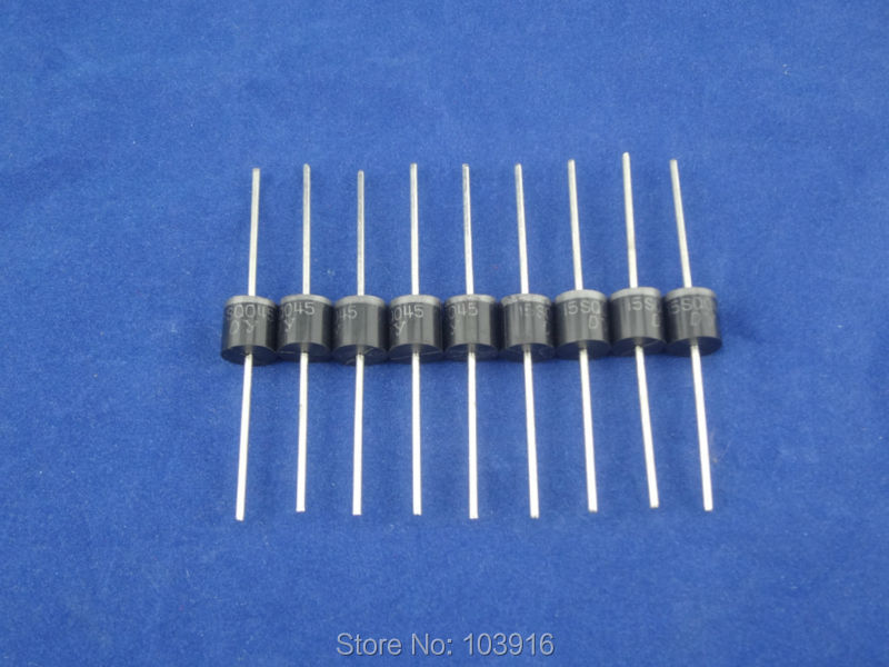 SCHOTTKY BARRIER RECTIFIER for solar panel DIY 100pcs 15A 45V Schottky Diode