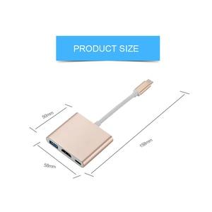 Image 5 - Adaptador convertidor Usb c HDMI tipo c para mac 3,1, tipo C de aluminio para adaptador de Macbook de Apple