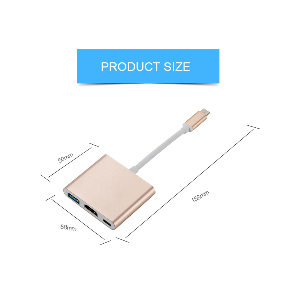 Usb c HDMI Type c Hdmi mac 3 1 Converter Adapter Typec to hdmi HDMI USB Usb c HDMI Type c Hdmi mac  3.1 Converter Adapter Typec to hdmi HDMI/USB 3.0/Type-C  Aluminum For Apple Macbook adapter