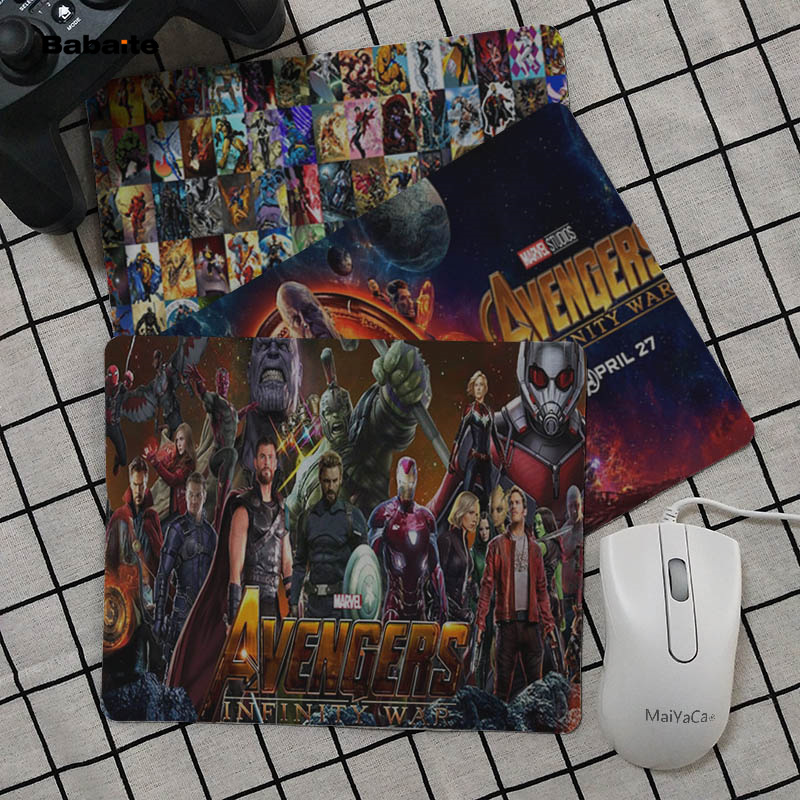 Babaite Your Own Mats Marvel Avengers Keyboard Gaming MousePads Top Selling Wholesale Pad mouse
