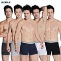 BXMAN 100% Cotton Knit High Quality Sexy Men Boxer Shorts Men's Underwear Classic Underpants One Button 5 Colors 5Pieces/Lot
