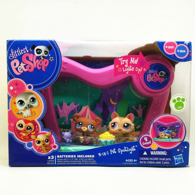 New LPS collector pack 2 in 1 Pet Spotlight with accessories cute toys shop cat animal action figure littlest doll birthday gift