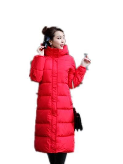 2016 Nuevas mujeres de invierno ropa de abrigo largo chaqueta de algodón acolchado engrosamiento de gran tamaño de algodón acolchado chaqueta LL007
