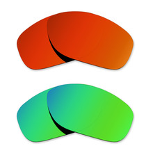 78405a8c90 Glintbay 2 Pairs Polarized Sunglasses Replacement Lenses for Oakley Pit  Bull Fire Red and Emerald Green