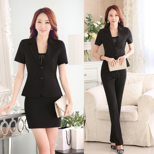 Aliexpress.com : Buy New 2017 Summer Black Blazer Women Business ...