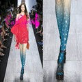 New fashion girls star tattoo pantyhose galaxy leggings tigts