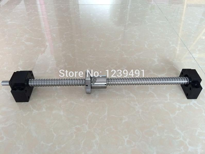 SFU2005 - 1000/500/700mm ball screw  with SFU2005 METAL DEFLECTOR Ballscrew nut + BK15 BF15 Support CNC parts 2005 ballscrew 1500 1500 1000 500mm sfu2005 metal deflector ballscrew nut 4set bk15 bf15 support 4pcs coupler 4pcs nut housing