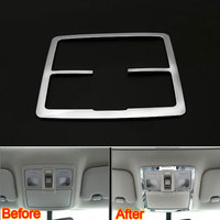 Car Interior ABS Roof Dome Front Reading Light Map Lamp Decoration Frame Cover Trim 1Pc For