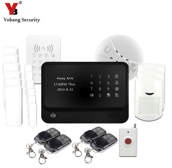 YobangSecurity Android IOS APP Wireless WIFI Home Security Alarm System with Wireless Keypad G90B Smoke Fire Sensor yobangsecurity touch keypad android ios app wireless wifi gsm sms rfid home alarm security system with wireless flash siren