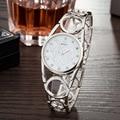 Relojes de las mujeres Marca Moda cuarzo reloj de Las Mujeres del reloj Del Diamante Del Oro Mujeres Del Vestido Elegante dama de la moda Reloj Pulsera Impermeable