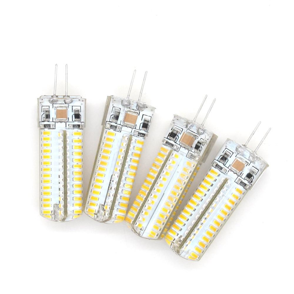 1pcs CE&RoHs G4 LED Corn Bulb 220V 110V AC DC 12V 3014 SMD ...