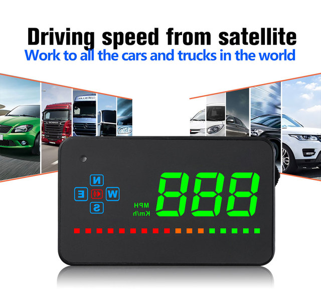 RMLKS Compatible With All Car Speed Projector GPS Digital Car Speedometer A2 Electronics Head Up Display Auto HUD Windshield Pro