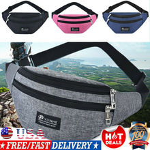 Mans Womens Fanny Pack WaterProof Pouch Belt Waist Bum Bag Phone Pocket