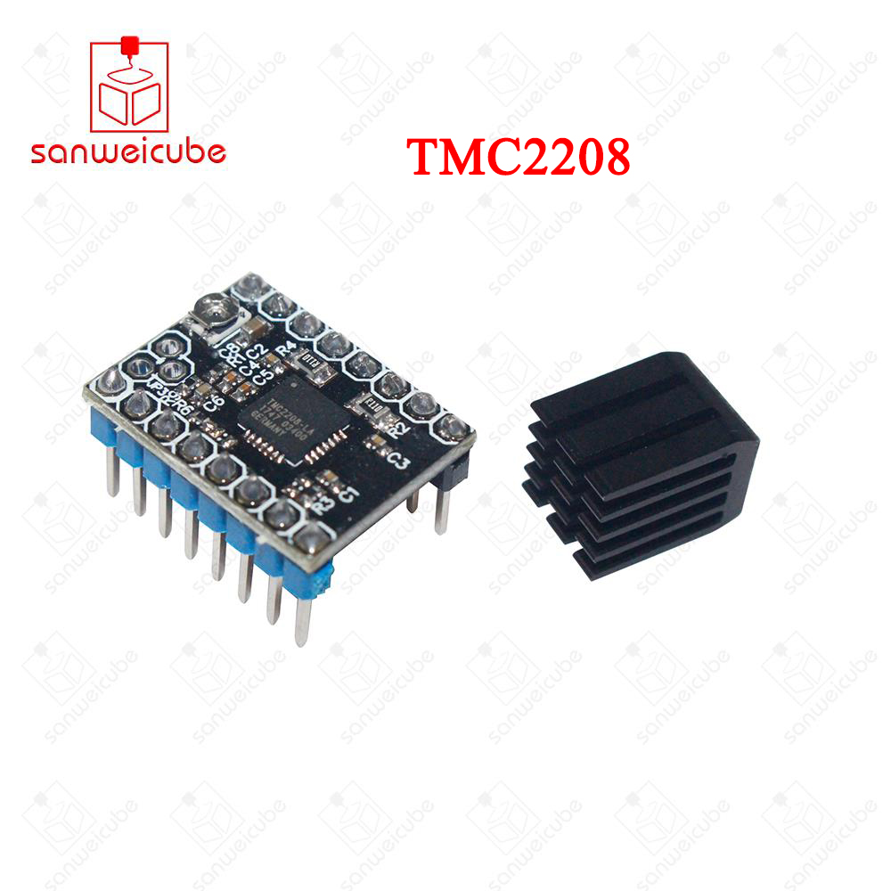 3d printer parts 4pcs stepper motor driver heat sinks cooling block heatsink for tmc2100 lv8729 drv8825 drive modules Stepstick TMC2208 Stepper Motor Driver Super Silent With New Heat Sinks Replace TMC2100 3D Printer Parts Accessories