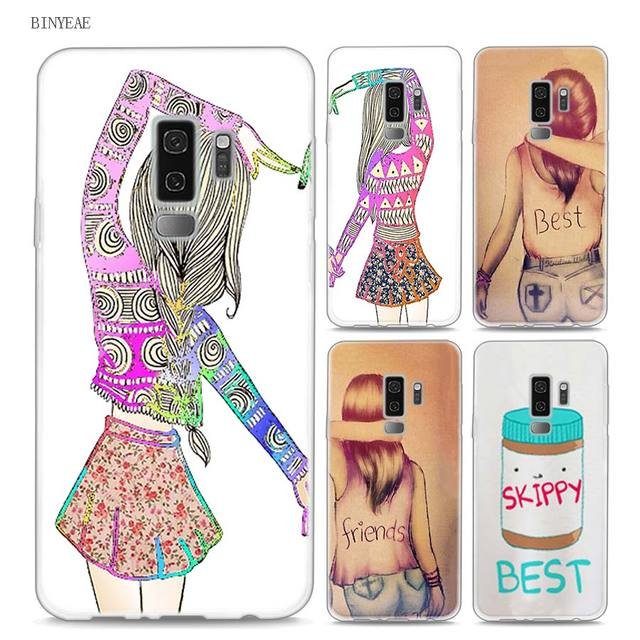 sale retailer d494a ed78c BINYEAE different but best friends forever Style Clear Soft TPU Phone Cases  For Samsung Galaxy S9 S8 Plus S7 S6 S5 S4 Mini Edge-in Fitted Cases from ...