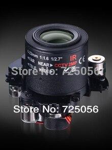 HD 2.0megapixel auto iris 6-22mm M14 motorized CCTV lens,F1.6, ICR, Auto Zoom, Focus, IrisHorizontal Field 43.-16.5D - LULALA STORE store