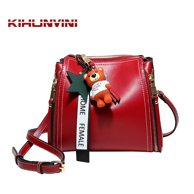 Handbag Women Bucket Bag Leather Messenger Bags New Fashion Crossbody Shoulder Bag Female Purse Famous Designer High End Bolsas 2016 women fashion brand leather bag female drawstring bucket shoulder crossbody handbag lady messenger bags clutch dollar price