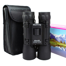 Binoculars 22×32 Portable Folding Professional Hd Zoom Telescope High qualith Powerful Outdoor Hunting Low Light Night Vision