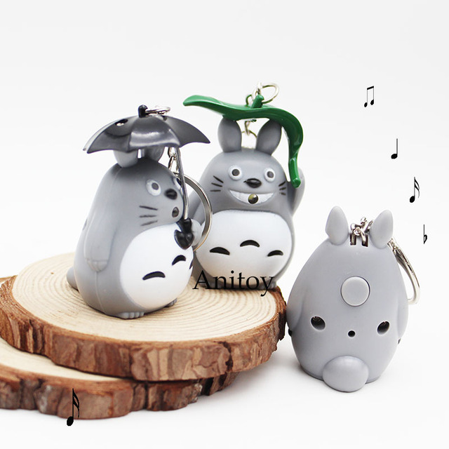 Totoro LED Keychain with Sound and Light