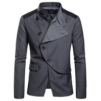 New Men's Irregular Design Suits Blazer Men Casual Suits Single Breasted Button Men Blazer Male Patchwork Suit Blazers k930