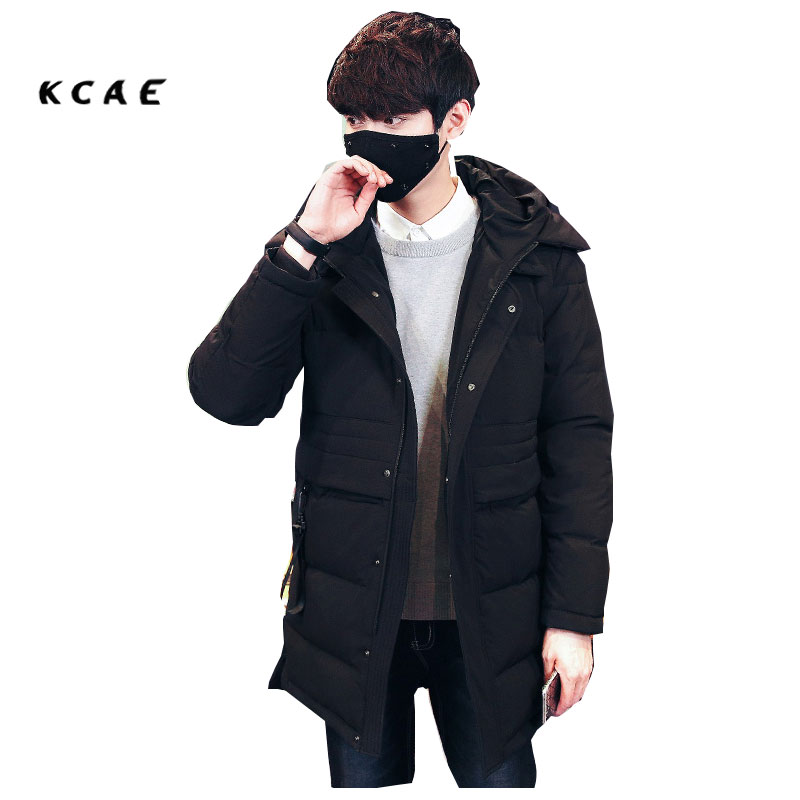 2017 Fashion New Arrival Winter Jacket Men High Quality Brand Casual Warm Outwear Solid Color Thick Long Cotton Mens Parka 2016 new arrival men s winter jacket casual slim fit fashion solid hooded man jacket winter warm high quality m 4xl